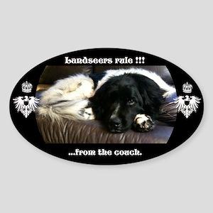Landseers rule !!! Sticker (Oval)