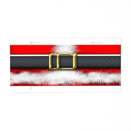 Santa on Duty Aluminum License Plate