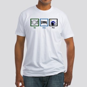 Eat Sleep Drums Fitted T-Shirt