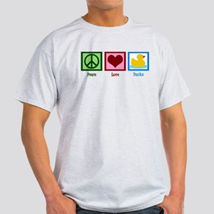 Peace Love Ducks Light T-Shirt
