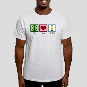 Peace Love Giraffes Light T-Shirt