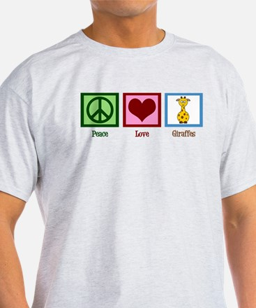 Peace Love Giraffes T-Shirt