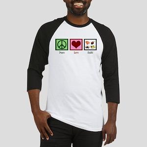 Peace Love Sushi Baseball Jersey