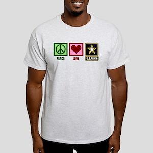 Peace Love Army Light T-Shirt