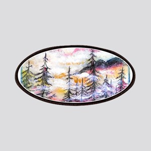 Misty mountains, art, Patches