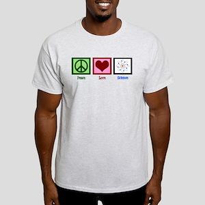 Peace Love Science Light T-Shirt