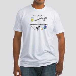 Wheres my Money Man? Fitted T-Shirt