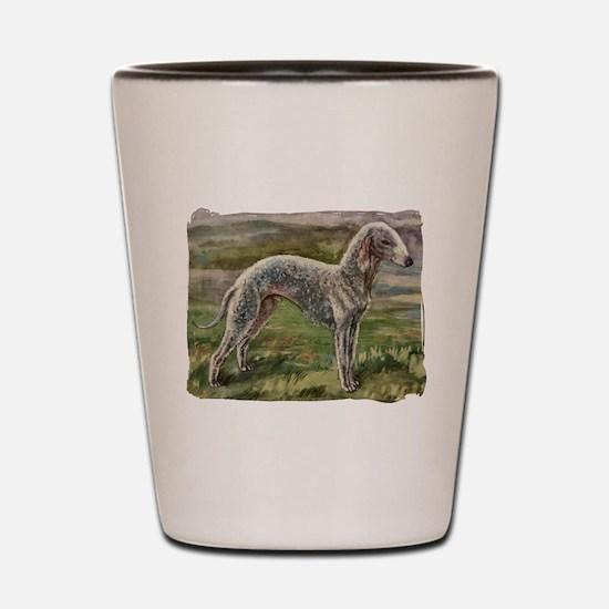 Vintage Bedlington Terrier Shot Glass