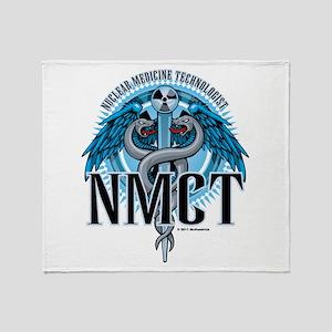 NMCT Caduceus Blue Throw Blanket
