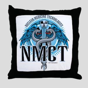 NMCT Caduceus Blue Throw Pillow