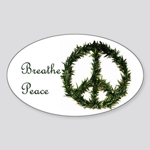 Breathe Peace Sticker (Oval)