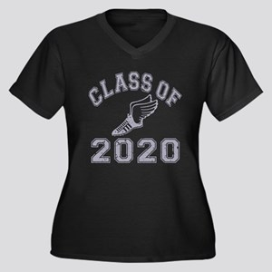 Class of 2020 Track & Field Women's Plus Size V-Ne