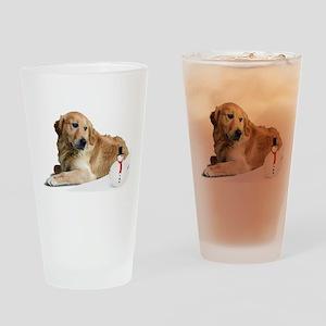 Golden Retriver Holidays Drinking Glass