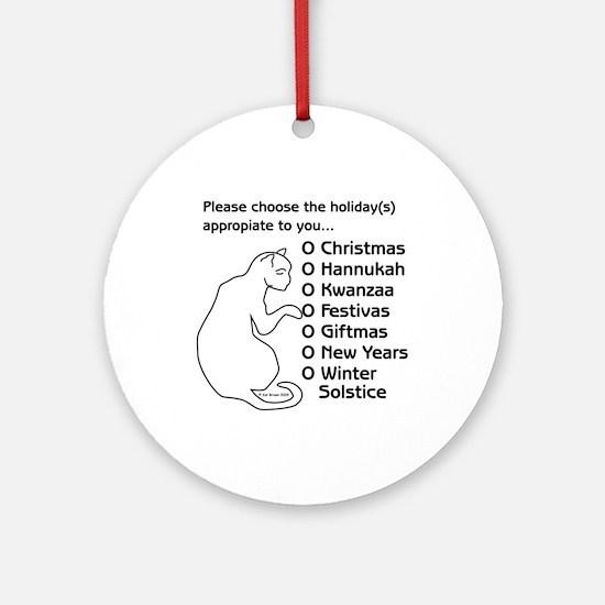 I Fell Asleep... Ornament (Round)