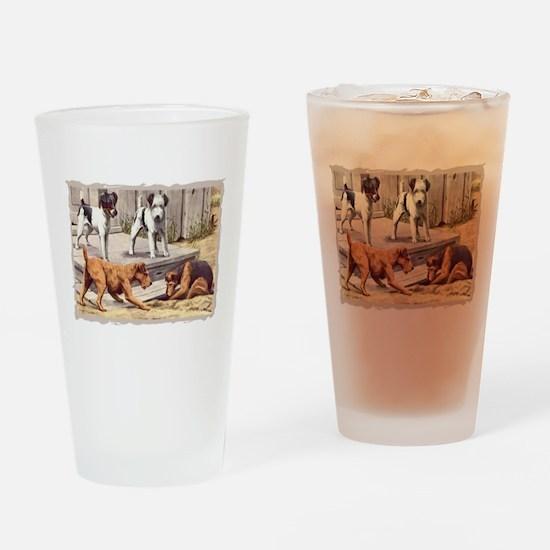 Fox, Irish & Welsh Terriers V Drinking Glass