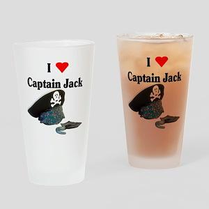 I Heart Captain Jack Drinking Glass