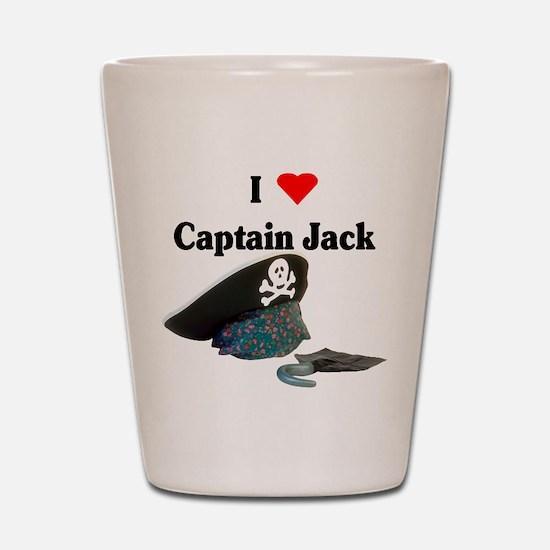 I Heart Captain Jack Shot Glass