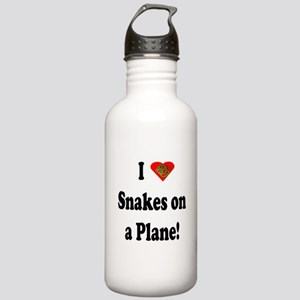 I Heart Snakes on a Plane! Stainless Water Bottle