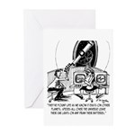 Dead Batteries In Space Greeting Cards (Pk of 10)