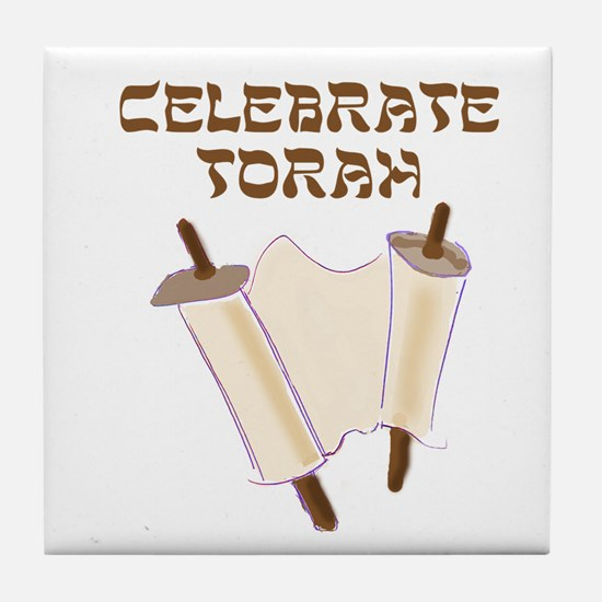 Simchat Torah Tile Coaster