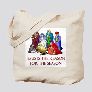 Christmas Jesus is the reason for the season Tote