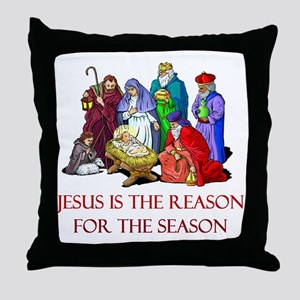 Christmas Jesus is the reason for the season Throw