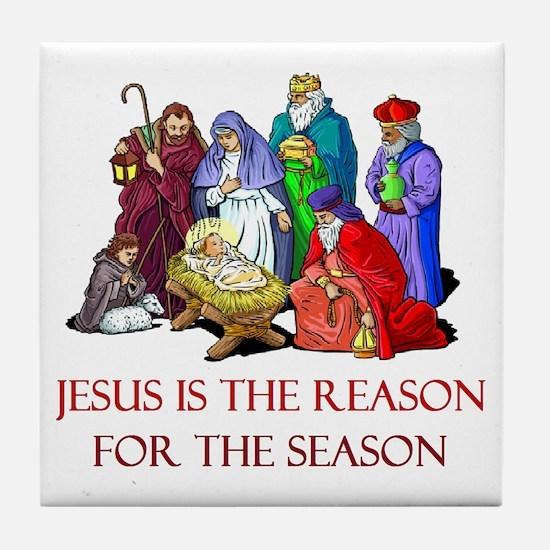 Christmas Jesus is the reason for the season Tile