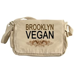 Brooklyn Vegan Messenger Bag