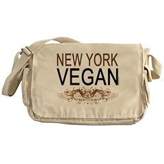 New York Vegan Messenger Bag