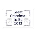 Great Grandma-to-Be 2012 Car Magnet 20 x 12