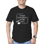 Great Grandma-to-Be 2012 Men's Fitted T-Shirt (dar