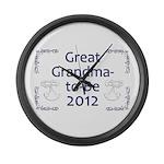 Great Grandma-to-Be 2012 Large Wall Clock