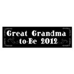 Great Grandma-to-Be 2012 Sticker (Bumper 50 pk)