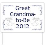 Great Grandma-to-Be 2012 Yard Sign
