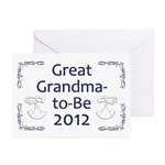 Great Grandma-to-Be 2012 Greeting Cards (Pk of 20)