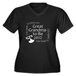 Great Grandma-to-Be 2012 Women's Plus Size V-Neck