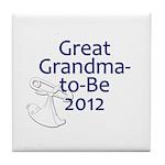 Great Grandma-to-Be 2012 Tile Coaster