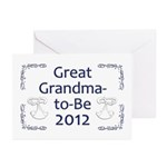 Great Grandma-to-Be 2012 Greeting Cards (Pk of 10)