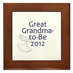 Great Grandma-to-Be 2012 Framed Tile