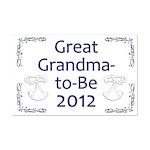Great Grandma-to-Be 2012 Mini Poster Print
