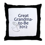Great Grandma-to-Be 2012 Throw Pillow