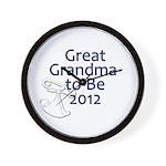Great Grandma-to-Be 2012 Wall Clock