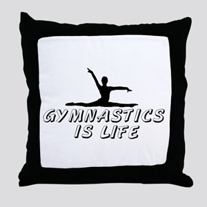 Gymnastics is Life Throw Pillow