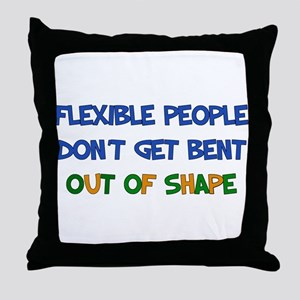 Flexible People Throw Pillow