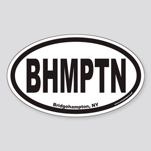 Bridgehampton New York BHMPTN Euro Oval Sticker