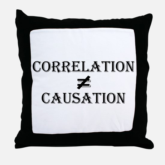 Correlation Causation Throw Pillow