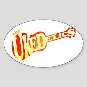 Ukedelics Sticker (Oval)