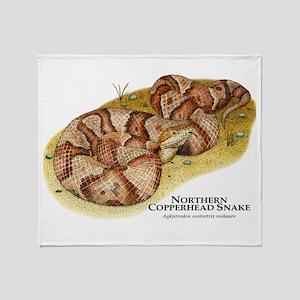 Northern Copperhead Snake Throw Blanket
