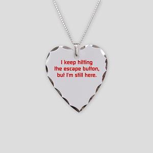 Esc Key Necklace Heart Charm