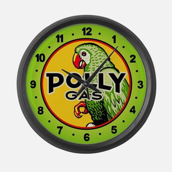 Polly Gas Large Wall Clock